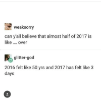 ( ͡° ͜ʖ ͡°) (Credit tagged) clean meme cleanmeme cleanmemes lol laughoutloud funny laughing laughinguntilicry laugh crying hilarious hahaha haha ha 😂 🤣 relatable wow omg used common stolen borrowed joking joker joke maymays maymay: weaksorry  can y'all believe that almost half of 2017 is  like over  900  glitter-god  2016 felt like 50 yrs and 2017 has felt like 3  days ( ͡° ͜ʖ ͡°) (Credit tagged) clean meme cleanmeme cleanmemes lol laughoutloud funny laughing laughinguntilicry laugh crying hilarious hahaha haha ha 😂 🤣 relatable wow omg used common stolen borrowed joking joker joke maymays maymay