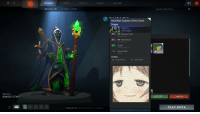 If anyone here plays Dota 2, you can add a Smug Anime Face to your items.: WEAPON  RUBICK'S STAFF  LEARN  HEROES  STORE  WATCH  HEROES  E GLOBAL ITEMS  To (Alexandria, VA)  Type here to chat. Use Ifor commands  ARCADE  Inscribed Scepter of the Grand  Magus  VV Rarity: Rare  Slot: Weapon  223  Ultimates stolen  93  Wards Placed  Cloud  GAMES WATCHED: 16  Empty Socket  Modifiers  Ambient Effects  A Custom Effects  CAN RECYCLE  Search for Rubick Items  ACCEPT  CANCEL  PLAY DOTA If anyone here plays Dota 2, you can add a Smug Anime Face to your items.