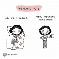 The only outfit that matters (By @pinks_and_roses): WEARINC PJ'S  90% WEEKEND  HONE OVTFIT  10% FOR SLEEPING  INK  FOR Bu2ZFEED  ROSE The only outfit that matters (By @pinks_and_roses)