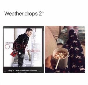 Who's ready for Christmas?? #Holiday #Memes #Christmas #Winter: Weather drops 2  micha  bual  thristmas  ning To Look A Lot Like Christmas Who's ready for Christmas?? #Holiday #Memes #Christmas #Winter