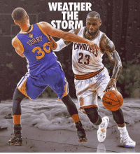 Cavs, Memes, and Nba: WEATHER  THE  OR  DING Will LeBron win another title with Cle? @imanamateurgraphicdesigner Tags: Warriors Cavs NBA