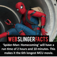 """▲▲ - Also happy birthday Tom!!! - My other IG accounts @factsofflash @yourpoketrivia @facts_of_heroes ⠀⠀⠀⠀⠀⠀⠀⠀⠀⠀⠀⠀⠀⠀⠀⠀⠀⠀⠀⠀⠀⠀⠀⠀⠀⠀⠀⠀⠀⠀⠀⠀⠀⠀⠀⠀ ⠀⠀----------------------- spiderman peterparker tomholland marvelfacts spidermanfacts webslingerfacts venom carnage avengers xmen justiceleague marvel homecoming tobeymaguire andrewgarfield ironman spiderman2099 civilwar auntmay like gwenstacy maryjane deadpool miguelohara hobgoblin milesmorales like4like: WEB  SLINGER  FACTS  """"Spider-Man: Homecoming' will have a  run time of 2 hours and 10 minutes. This  makes it the 6th longest MCU movie. ▲▲ - Also happy birthday Tom!!! - My other IG accounts @factsofflash @yourpoketrivia @facts_of_heroes ⠀⠀⠀⠀⠀⠀⠀⠀⠀⠀⠀⠀⠀⠀⠀⠀⠀⠀⠀⠀⠀⠀⠀⠀⠀⠀⠀⠀⠀⠀⠀⠀⠀⠀⠀⠀ ⠀⠀----------------------- spiderman peterparker tomholland marvelfacts spidermanfacts webslingerfacts venom carnage avengers xmen justiceleague marvel homecoming tobeymaguire andrewgarfield ironman spiderman2099 civilwar auntmay like gwenstacy maryjane deadpool miguelohara hobgoblin milesmorales like4like"""
