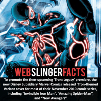 "Memes, Spider, and SpiderMan: WEB  SLINGER  FACTS  To promote the then-upcoming 'Tron: Legacy premiere, the  new Disney Subsidiary Marvel Comics released 'Tron-themed  Variant cover for most of their November 2010 comic series,  including ""invincible lron Man', ""Amazing Spider-Man"",  and ""New Avengers"". ▲▲ - The Tron Suit!- My other IG accounts @factsofflash @yourpoketrivia @facts_of_heroes ⠀⠀⠀⠀⠀⠀⠀⠀⠀⠀⠀⠀⠀⠀⠀⠀⠀⠀⠀⠀⠀⠀⠀⠀⠀⠀⠀⠀⠀⠀⠀⠀⠀⠀⠀⠀ ⠀⠀----------------------- spiderman peterparker tomholland marvelfacts spidermanfacts webslingerfacts venom carnage avengers xmen justiceleague marvel homecoming tobeymaguire andrewgarfield ironman spiderman2099 civilwar auntmay like gwenstacy maryjane deadpool miguelohara hobgoblin milesmorales like4like"