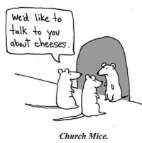 Church, Lol, and You: Wed like to  talk to you  about cheeses  Church Mice. <p>Lol! Reblog this :)</p>
