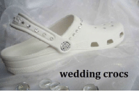 Crocs: wedding crocs