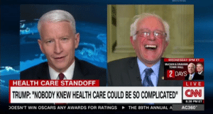 "aledethanlast: I don't think this photo needs any further explanation: WEDNESDAY 9PM ET  MCCAIN & GRAHAM  TOWN HALL  2 DAYS  HEALTH CARE STANDOFF  LIVE  TRUMP: ""NOBODY KNEW HEALTH CARE COULD BE SO COMPLICATED""CAN  8:38 PM ET  AC360  DOESN'T WIN OSCARS ANY AWARDS FOR RATINGS  THE 89TH ANNUAL A aledethanlast: I don't think this photo needs any further explanation"