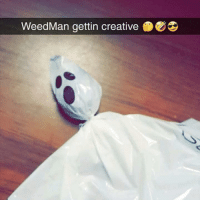 Shit, Dank Memes, and Spooky: WeedMan gettin creative Spooky season shit @toptree
