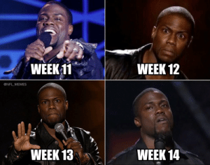Cowboys fans this season... https://t.co/0AdgQZ2L0o: WEEK 11  WEEK 12  @NFL_MEMES  WEEK 13  WEEK 14 Cowboys fans this season... https://t.co/0AdgQZ2L0o