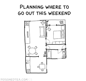 Weekend plans [OC]: Weekend plans [OC]