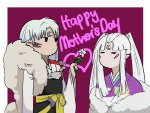 Mother's Day, Target, and Tumblr: weetinng:  happy mothers day with Sesshomaru and his mother (if they even have a proper mother son relationship)it's still kinda cutie