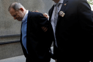 Weinstein miraculously no longer needs his walker after a guilty verdict. It's a miracle!: Weinstein miraculously no longer needs his walker after a guilty verdict. It's a miracle!