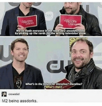 This is rly funny - supernatural spnfandom spnfamily deanwinchester samwinchester castiel destiel jaredpadalecki jensenackles mishacollins: Weive made everyone In the room very uncomfortab  by'plcking up the cards forthe wrong televislon show.  by plcking up the cards for the wrong televislon show  THE  What's In the future for Steroline Steraline?  What's thot?  crowstiel  M2 being assdorks. This is rly funny - supernatural spnfandom spnfamily deanwinchester samwinchester castiel destiel jaredpadalecki jensenackles mishacollins