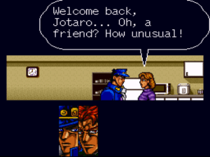 "lavender-and-creme:  greed-the-dorkalicious:  greed-the-dorkalicious:  WOW MOM THANKS FOR THE VOTE OF CONFIDENCE   I'm retitling this game ""Jotaro Kujo and the time his entire family didn't believe he could possibly have friends""  : Welcome back,  Jotaro... Oh, a  friend? How unusual! lavender-and-creme:  greed-the-dorkalicious:  greed-the-dorkalicious:  WOW MOM THANKS FOR THE VOTE OF CONFIDENCE   I'm retitling this game ""Jotaro Kujo and the time his entire family didn't believe he could possibly have friends"""