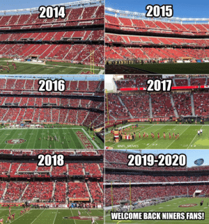 Welcome back Niners fans! https://t.co/OGFfKrQpeS: Welcome back Niners fans! https://t.co/OGFfKrQpeS