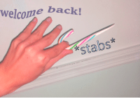 welcome back!  stabs*