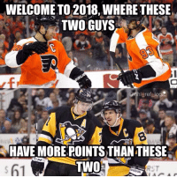 Memes, Pittsburgh, and 🤖: WELCOME TO 2018, WHERE THESE  TWO GUYS  gret logi  HAVE MORE POINTS THAN THESE  TWO Not a huge shock, but a pleasant surprise. I'll take Philly over Pittsburgh any day of the week