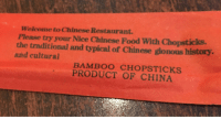 Welcome to  Chinese Restaurant.  Please try your Nice Chinese Food With Chopsticks.  the traditional and typical of Chinese gionous history.  and cultural  CHOPS TICKS  PRODUCT OF CHINA and cultural!