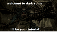 Dark Souls: welcome to dark SOulS  I'll be your tutorial