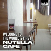 Nutella lovers ... your prayers have been answered 🍫🙌: WELCOME TO  THE WORLD'S FIRST  NUTELLA  CAFE  LAD  BIBLE Nutella lovers ... your prayers have been answered 🍫🙌