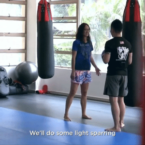 She absolutely destroys them! They didn't expect this 😂: We'll do some light sparring She absolutely destroys them! They didn't expect this 😂
