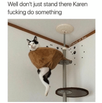 DM me the edgiest memes you can find I'll post some😉: Well don't just stand there Karen  fucking do something DM me the edgiest memes you can find I'll post some😉