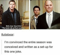 "Would be better if sherrif jody Said it ---------------------- jensenackles deanwinchester winchester supernatural supernaturalfandom spn spnfamily alwayskeepfighting youarenotalone jaredpadalecki samwinchester castiel castielangelofthelord mishacollins spnfandom mishaporn destiel cockles teamfreewill dean sam cas rowena ruthconnel crowley supernaturalfunny supernaturaltumblr: Well, how 'bout this?  ""The Suite Life of Zach and Cas  flutiebear  I'm convinced the entire season was  conceived and written as a set-up for  this one joke. Would be better if sherrif jody Said it ---------------------- jensenackles deanwinchester winchester supernatural supernaturalfandom spn spnfamily alwayskeepfighting youarenotalone jaredpadalecki samwinchester castiel castielangelofthelord mishacollins spnfandom mishaporn destiel cockles teamfreewill dean sam cas rowena ruthconnel crowley supernaturalfunny supernaturaltumblr"