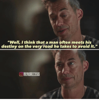 """This was the single greatest quote from the entire season 3.🙌 The first time I heard it, I was literally in awe of how powerful it really was.🙏 What is your favorite quote from The Flash? ~ Lopro⚡️: """"Well, I think that a man often meets his  destiny on the very road he takes to avoid it.""""  O HERDACCESS This was the single greatest quote from the entire season 3.🙌 The first time I heard it, I was literally in awe of how powerful it really was.🙏 What is your favorite quote from The Flash? ~ Lopro⚡️"""