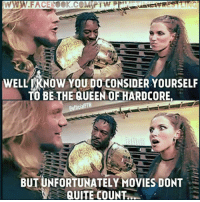 LOL! Classic Chris Jericho!   - DAS Fans: WELL KNOW YOUNDO CONSIDER YOURSELF  TO BE THE QUEEN OFFHARDCORE.  CofficialPTW  Ball  BUT UNFORTUNATELY MOVIES DONT  QUITE COUNT.. LOL! Classic Chris Jericho!   - DAS Fans