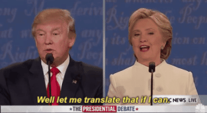 Lol, Spanish, and Tumblr: Well let me translate that if I can.  THE PRESIDENTIAL DEBATE  CancNEwS LIVE lol-coaster:Translation services for 5 USD- English to German and vice versa- English to Spanish and vice versa- English to French and vice versa- English to Italian and vice versa Proofreading and editing of documents in English  https://goo.gl/6yLYgM
