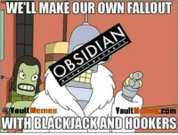WELL, MAKE OUR OWN FALLOUT  Memes  Vault  au  WITHBLACKJACKAND HOOKERS Damn straight  -Miss Nuka Cola