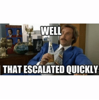 Watching Panthers and Seahawks like: WELL  THAT ESCALATED QUICKLY Watching Panthers and Seahawks like