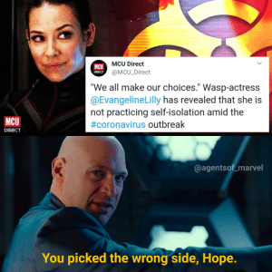 Well too bad Marvel will have to cast another actress for Wasp cos she ain't gonna survive.: Well too bad Marvel will have to cast another actress for Wasp cos she ain't gonna survive.