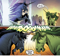 "Love, Tumblr, and Blog: WELL, TWO  CAN PLAY  THAT GAME!  UNICORN  FIGHT! why-i-love-comics:  Titans #24 - ""The Spark II"" (2018)written by Dan Abnettart by Brent Peeples, Matt Santorelli,  Ivan Plascencia"