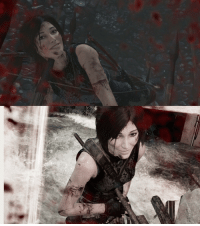 welovegamingz: Pausing the death animations in Tomb Raider and changing her face to a smile is great fun.: welovegamingz: Pausing the death animations in Tomb Raider and changing her face to a smile is great fun.