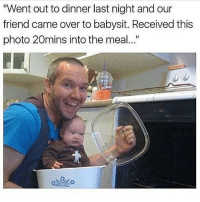 """YESTERDAY WAS ONE OF THE BEST DAYS I HAVE EVER HAD I hope I remember it forever: """"Went out to dinner last night and our  friend came over to babysit. Received this  photo 20mins into the meal..."""" YESTERDAY WAS ONE OF THE BEST DAYS I HAVE EVER HAD I hope I remember it forever"""
