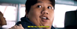 Tumblr, youtube.com, and Appreciate: WE'RE ALL GONNA DIE howlingdawn:  ellenripleys: Peter Parker and Ned Leeds in Avengers: Infinity War (2018)  Can we all appreciate that Ned had exactly one (1) line in this entire movie, and it was both utterly iconic and entirely too correct