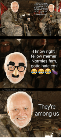 "Fam, Http, and Normie: WE'RE FACING A  CODE RED NORMIE  OUTBREAK OUT  THERE, HOW WILL  WE KNOW IF ONE  OF US IS ONE OF  THEM,  COMMANDER!?  I know right,  fellow memer!  Normies fam,  gotta hate em!  uYouButFrom ThePast  Theyre  among us <p>The absolute state of r/memeeconomy right now via /r/MemeEconomy <a href=""http://ift.tt/2y8aIwJ"">http://ift.tt/2y8aIwJ</a></p>"