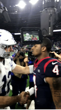 Memes, Time, and 🤖: We're going to be watching these two shine for a looooong time.  #INDvsHOU #NFLPlayoffs @deshaunwatson https://t.co/VaUrEbFAma