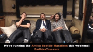 Memes, Kids, and Match: We're running the Amica Seattle Marathon this weekend!  BadideaTour.com Alright #SPNFamily…You know what to do. It's for the kids. We'll match your donations up to $100K. Bring it!!! Don't let me do this for nothing! BadIdeaTour.com