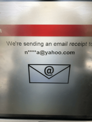 Wow, Email, and Receipt: We're sending an email receipt to  n****a@yahoo.com Wow