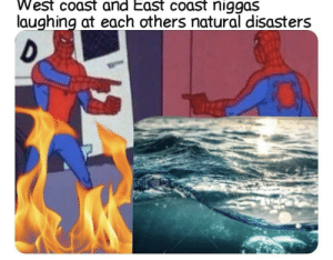 Me_irl by MussoIiniTorteIIini MORE MEMES: West coast and East coast niggas  laughing at each others natural disasters Me_irl by MussoIiniTorteIIini MORE MEMES
