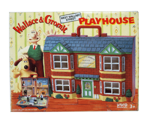 One, Case, and Play: WEST WALLABY  STREET  AM  Wallacea Gromit  PLAYHOUSE  &GROMIT'S  WALLACE  WASH 'N' GO  WINDOW CLEANING SERVICE  Telephone 2143.  CONTENTS: ONE CARRY CASE, ONE PLAY SCENE  Figures not included  IMAGINATIONS  TITTIT Anyone had one of these? or just me?
