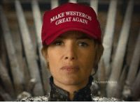 Cersei Lannister in GoT season 7 😂 #GameOfThrones https://t.co/tbqpHL9ExN: WESTER  GREAT AGA  ThronesMemes Cersei Lannister in GoT season 7 😂 #GameOfThrones https://t.co/tbqpHL9ExN
