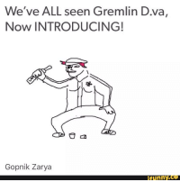 D Va: We've ALL seen Gremlin D.va,  Now INTRODUCING!  Gopnik Zarya  funny