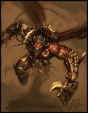 wh40kartwork:  Angron by David Haire: wh40kartwork:  Angron by David Haire