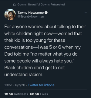 "What's just a ""talk"" to your kids is a life or death lesson for ours. (via /r/BlackPeopleTwitter): What's just a ""talk"" to your kids is a life or death lesson for ours. (via /r/BlackPeopleTwitter)"