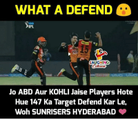 #SRHvRCB #IPL: WHAT A DEFEND  3.1M LIVE  IPL  15  LAUGHING  Jo ABD Aur KOHLI Jaise Players Hote  Hue 147 Ka Target Defend Kar Le,  Woh SUNRISERS HYDERABAD #SRHvRCB #IPL