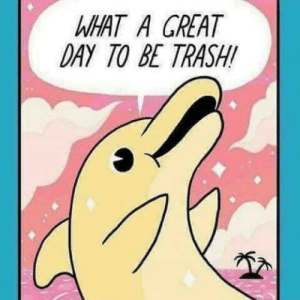 Trash, Day, and What: WHAT A GREAT  DAY TO BE TRASH!