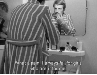 Fall, Girls, and Pain: What a pain. I always fall for girls  who aren't for me Breathless (1960)