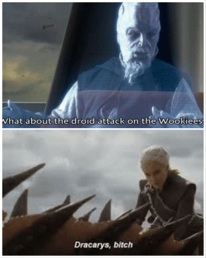 It's not a strategy the Jedi would teach you: What about the droid attack on the Wookiees  Dracarys, bitch It's not a strategy the Jedi would teach you